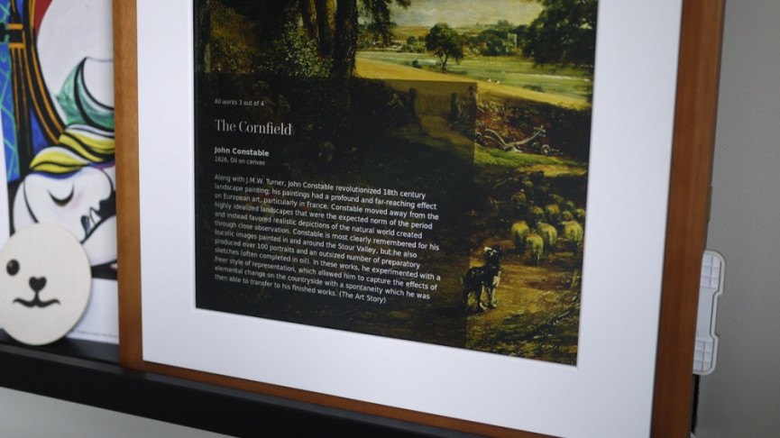 Gestos e información de arte de Meural 2