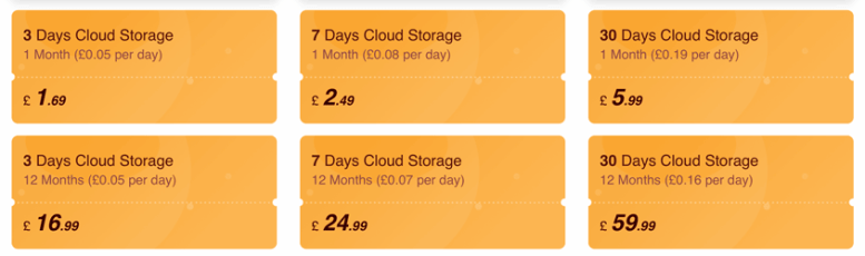 Costos de almacenamiento en la nube de la cámara iMou 2020