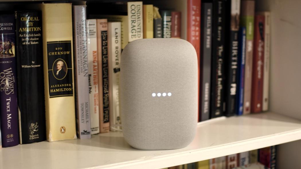 luces del asistente de google de audio nest