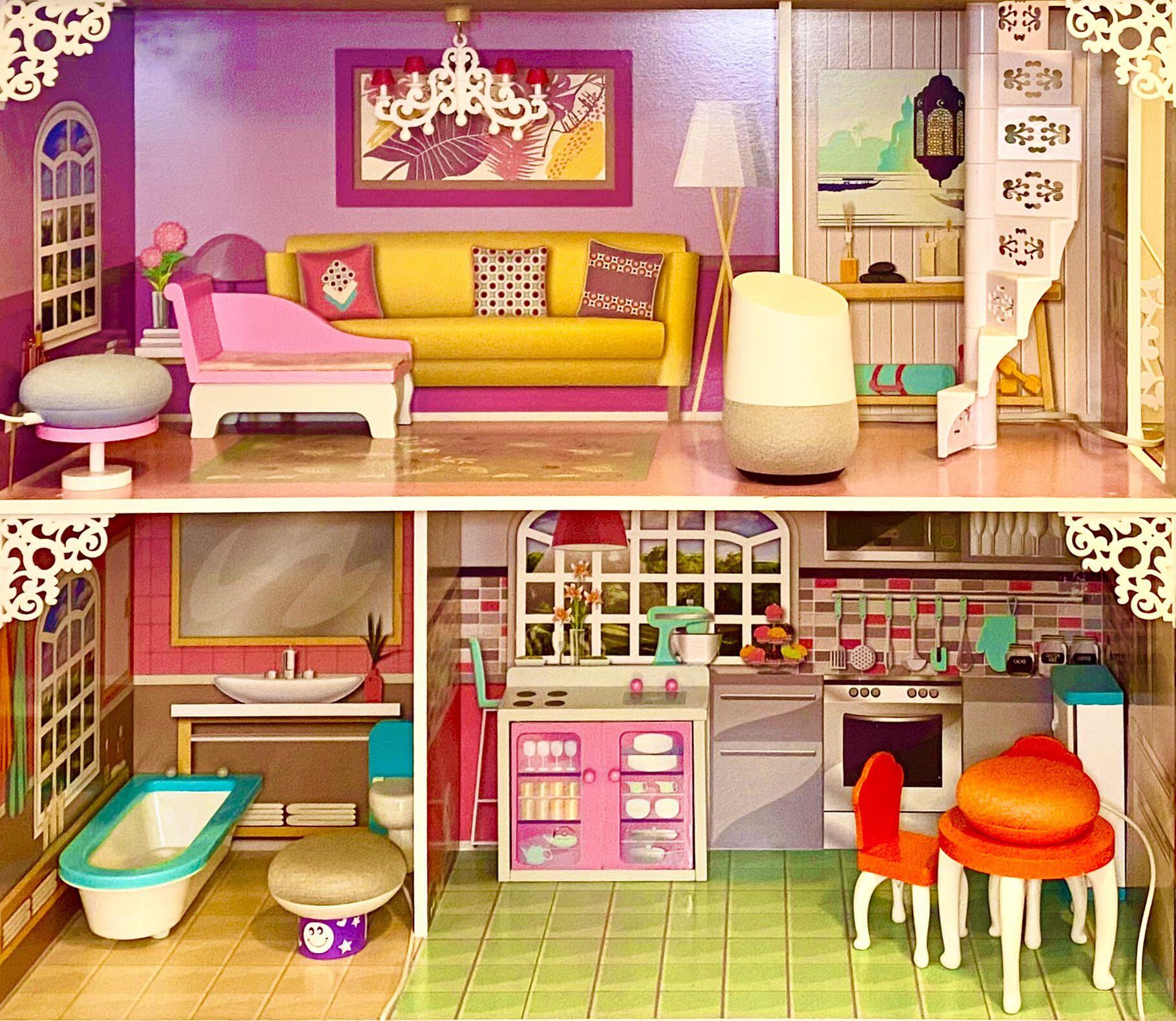 casa de muñecas google home