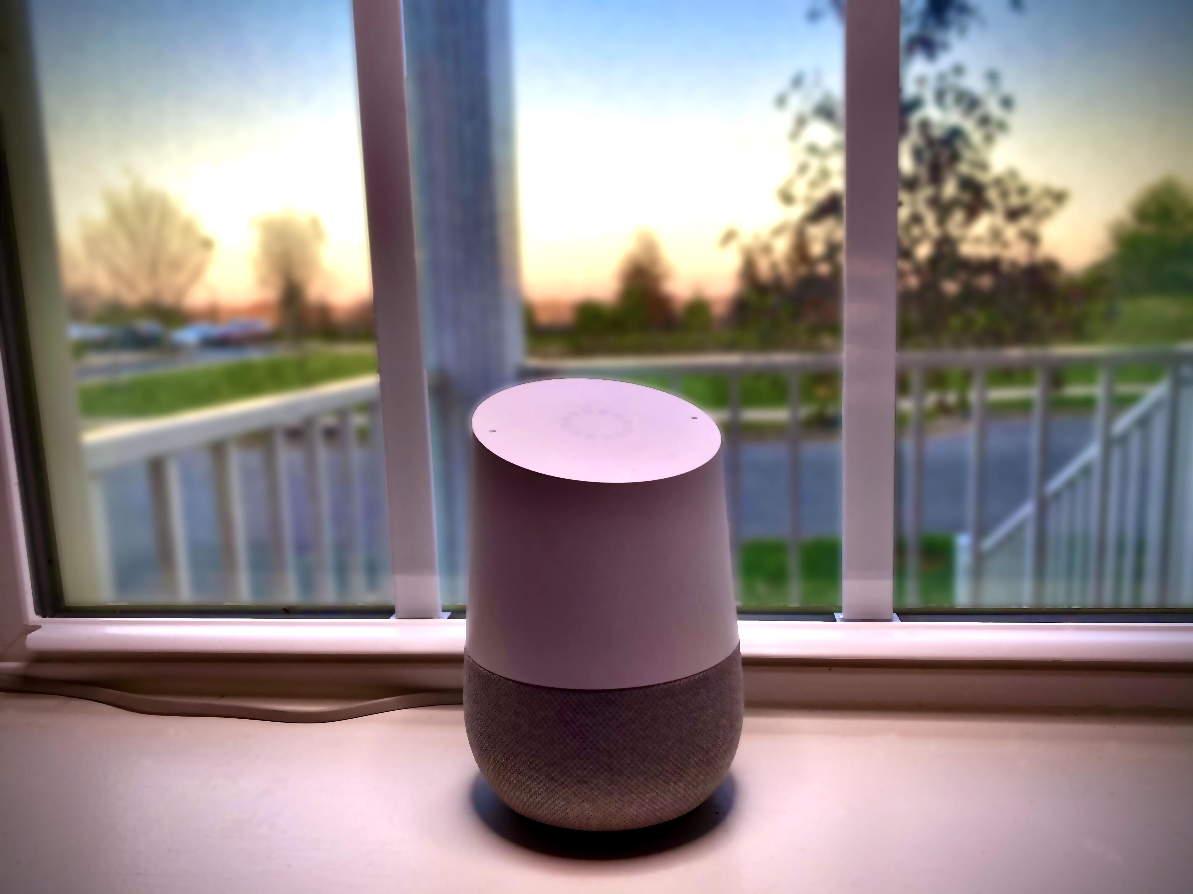 google home al atardecer