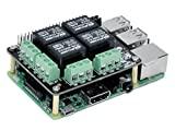 Tarjeta de expansión PiRelay para cargas de relé Raspberry Pi 4B / 3B + / 3B / 2B / B + / A hasta 250VAC / 5A, 30VDC / 5A de SB Components