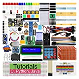 Freenove Ultimate Starter Kit para Raspberry Pi 4 B 3 B + 400, tutoriales detallados de 434 páginas, código Python C Java, 223 elementos, 57 proyectos, placa de pruebas sin soldadura