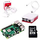 El kit de inicio Pi Hut Raspberry Pi 4 (4GB RAM, rojo y blanco)