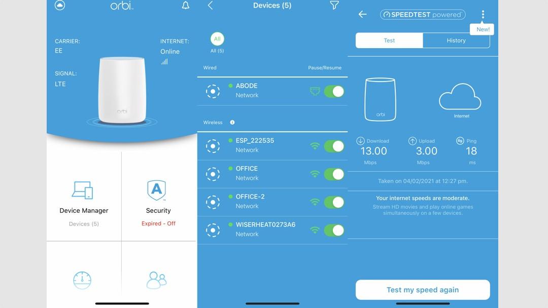 Aplicación Netgear Orbi LBR20 4G