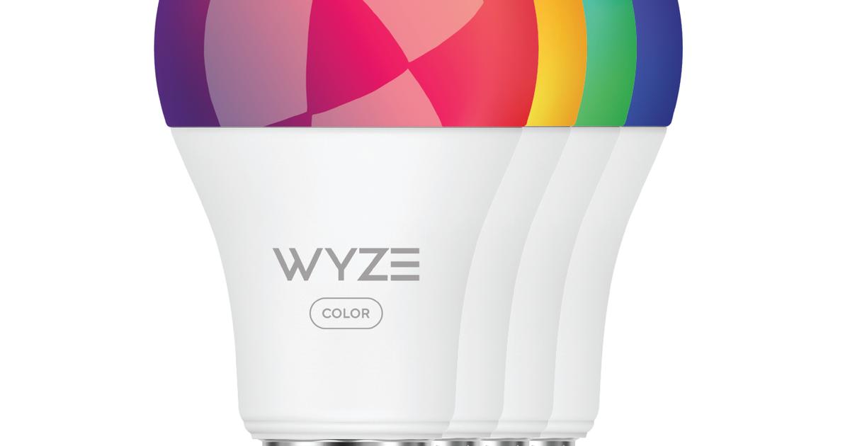 Wyze Bulb Color: 16 millones de opciones diferentes en una sola bombilla que cambia de color