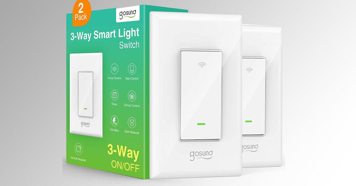 Obtenga un par de interruptores de luz inteligentes Wi-Fi de 3 vías por $ 13.69, el precio más bajo de la historia