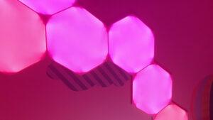 Nanoleaf Shapes hexágono rosa