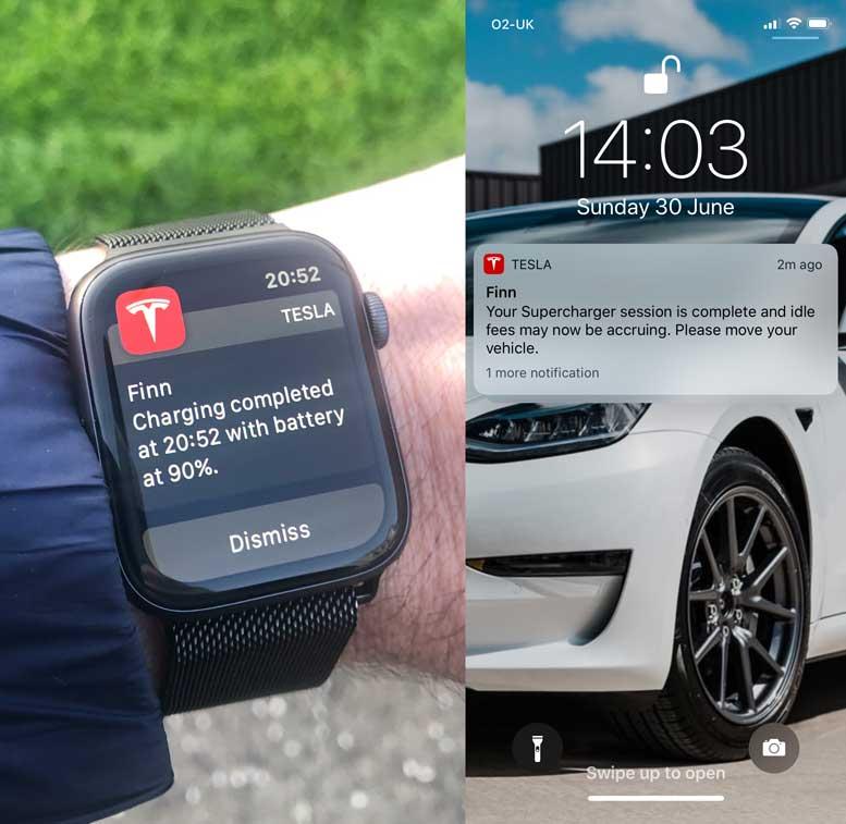 Tesla Model 3 Notifications