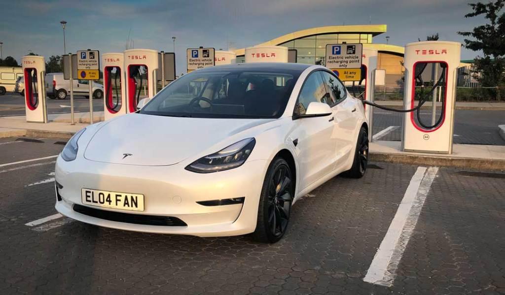 Tesla Model 3 - Supercharger Castlebellingham, Ireland