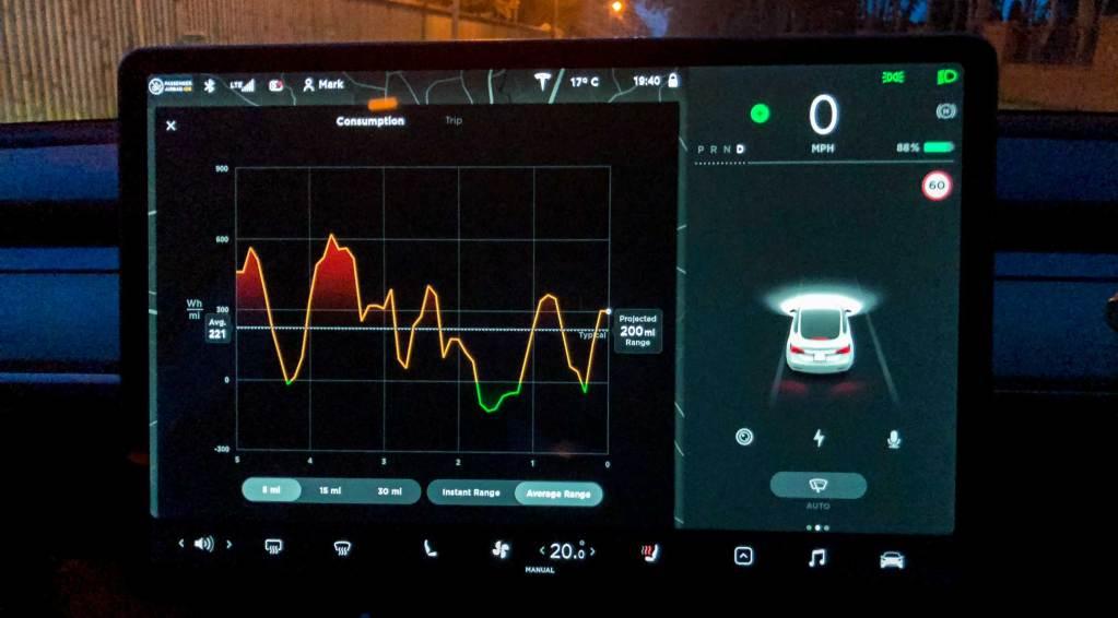 Tesla Model 3 - Energy Screen