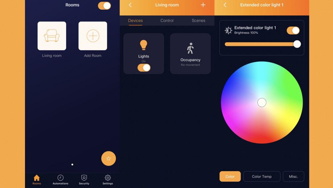 Aplicación de control de luz inteligente Adurosmart ERIA