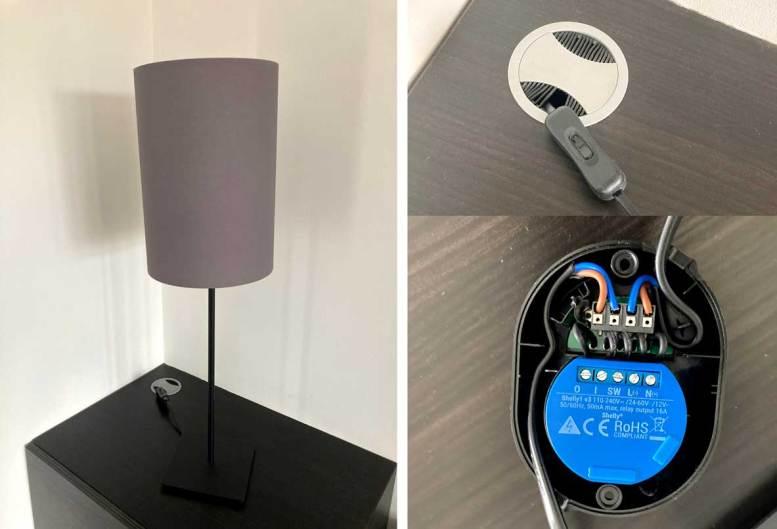 Interruptor en línea de lámpara inteligente Shelly